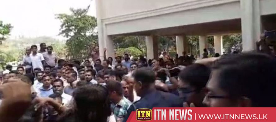 13 hospitalized following a clash at the Ruhuna University