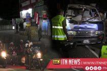 A suspect of a van theft shot dead