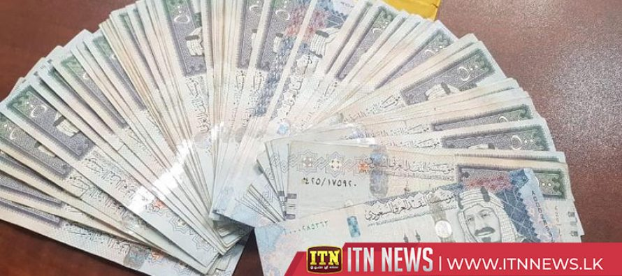 Lankan held with Saudi Riyals worth millions of rupees