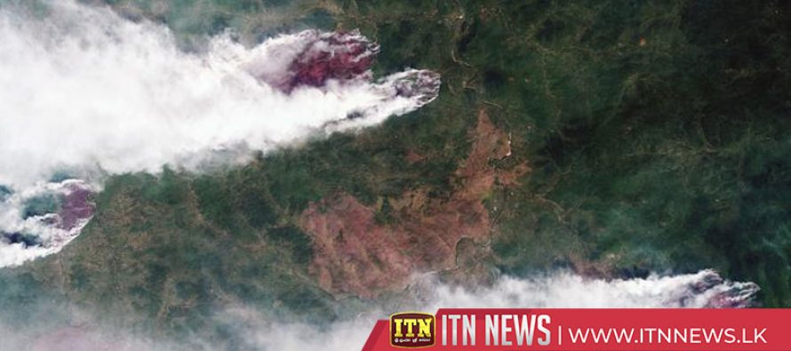 Russian military fights forest fires in Siberia