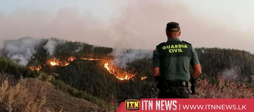 Wildfires displace 4,000 on holiday island