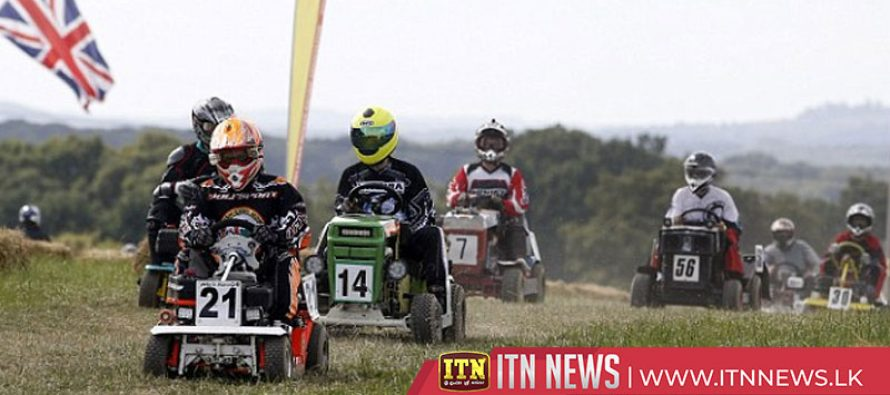 The greatest show on turf! UK lawnmowers in 12-hour endurance race