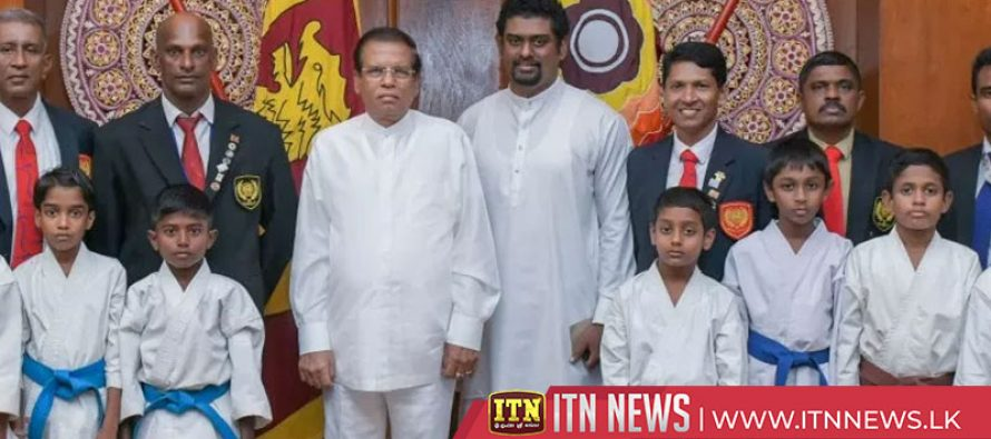 The President donates funds to the Karate-Do Federation and a mother of triplets