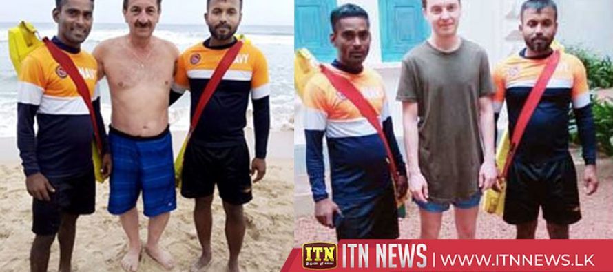Two foreigners saved by Navy lifesavers