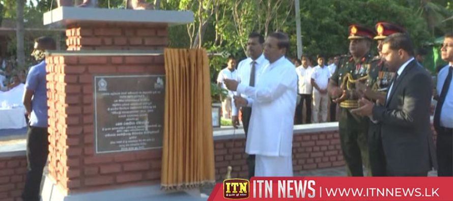 Ex-servicemen's memorial in Polonnaruwa unveiled