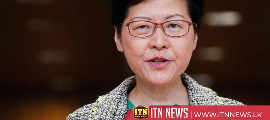 Hong Kong leader hopes peaceful, rational dialog can help solve crisis