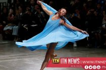 Models skate and twirl at debut of Issey Miyake's new designer