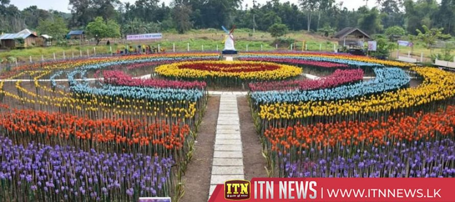 Tulip Garden made of plastic bottles opens in the Philippines