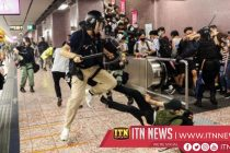 Protesters set up barricade at airport bus station