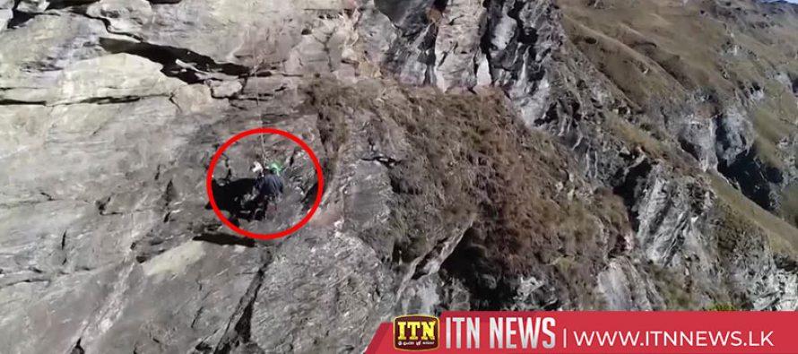 Alpine rescue unit save six goats stuck on mountain