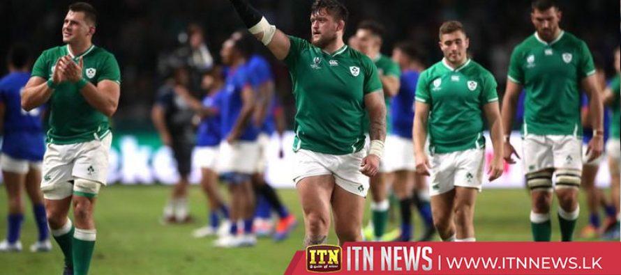 Ireland cruise past Samoa into quarter-finals despite Aki red
