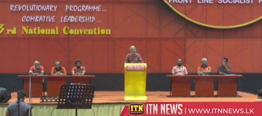 The 3rd national convention of the Frontline Socialist Party, held in Colombo