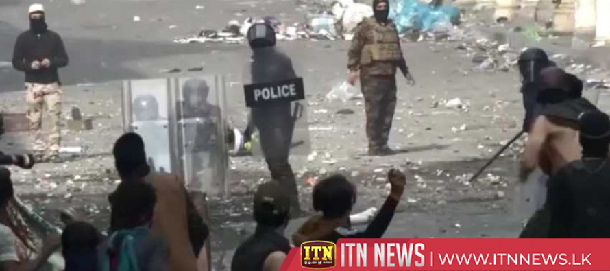 Clashes in Baghdad as protesters try to reach Central Bank building