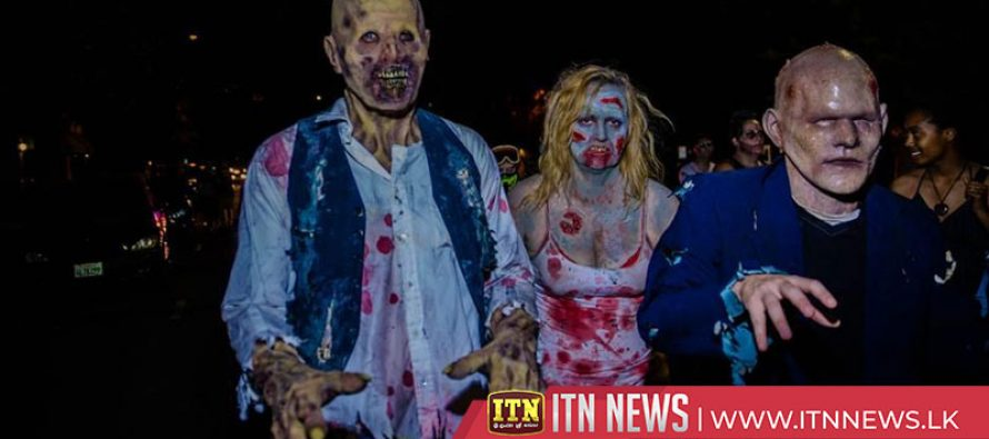 The dead come alive on Colombian streets for Zombie Walk