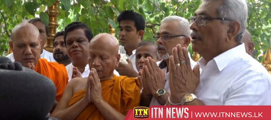 Maha Sangha tells the President the first step has been taken to reverse the country towards the correct path
