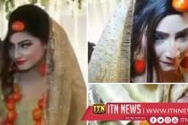 தங்க நகைக்கு பதிலாக தக்காளி நகைகளுடன் பாக்கிஸ்தான் மணப்பெண்