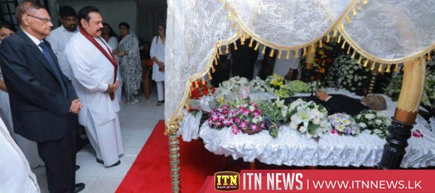 PM pays last respects to Prasanna Jayawardena