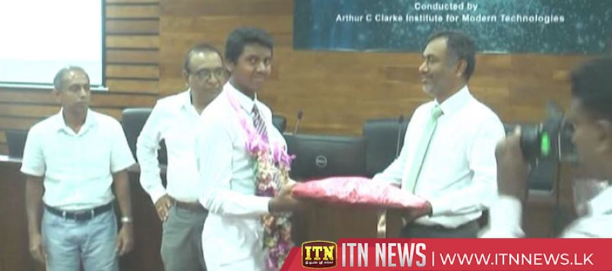A felicitation ceremony held for the winners of International Water Rocket Competition in Japan