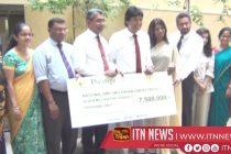 7.5 million rupees donated toimprovethe Bone Marrow Transplantation Unit at Apeksha Hospital