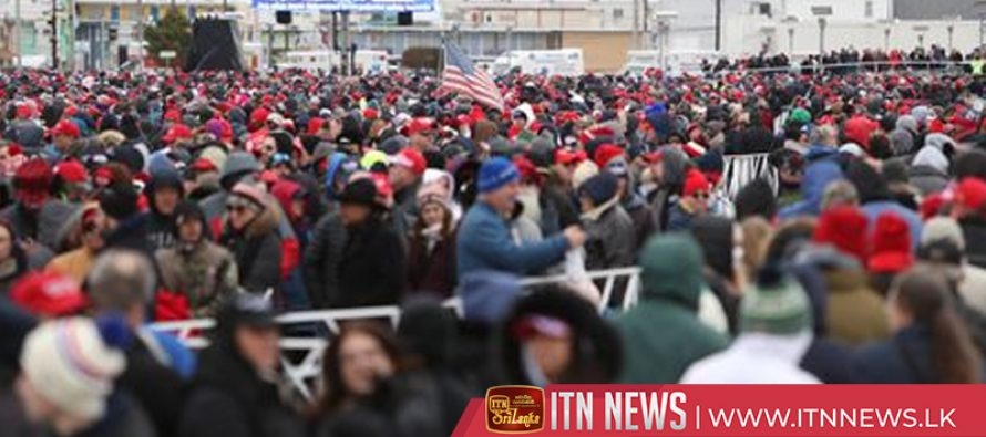 Tens of thousands gather in New Jersey ahead of Trump rally
