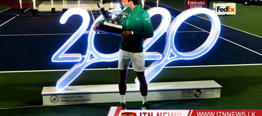 Djokovic breezes past Tsitsipas to claim fifth Dubai title