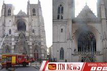 Smoke billows from France's Nantes Cathedral