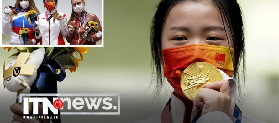 ஒலிம்பிக் போட்டிகளில் முதலாவது தங்க பதக்கத்தை சீனா பெற்றுக்கொண்டது..