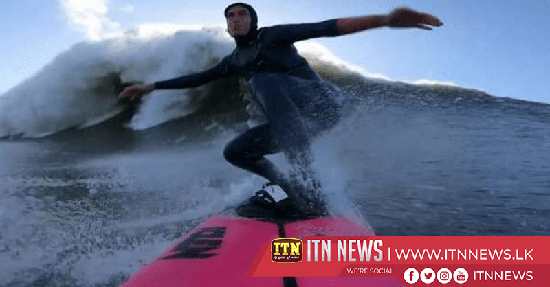 French surfer conquers massive wave in Portugal