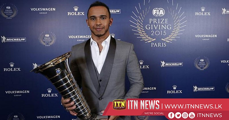 F1 champ Hamilton collects trophy at FIA awards gala
