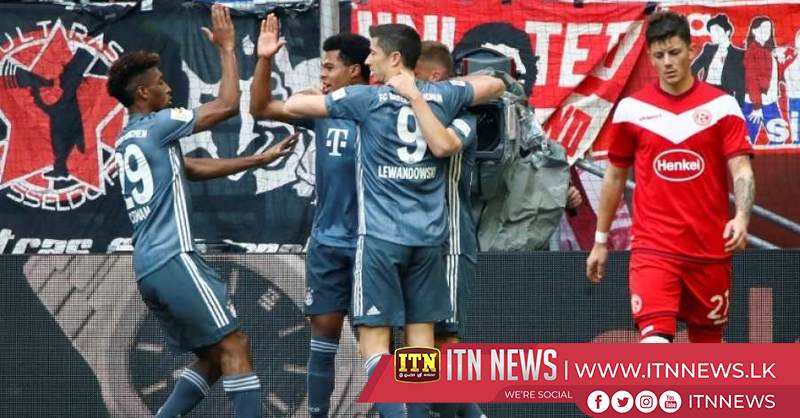 Bayern stay top with 4-1 demolition of Duesseldorf