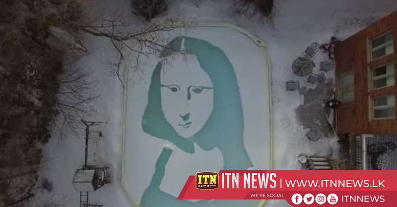 'Snowna Lisa' man recreates iconic painting in backyard
