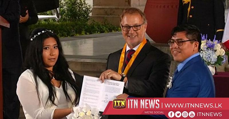 "100 hundred couples say ""I do"" at Peru mass wedding"