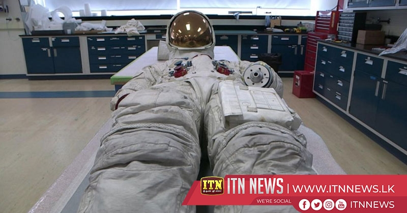 Neil Armstrong's spacesuit goes on display