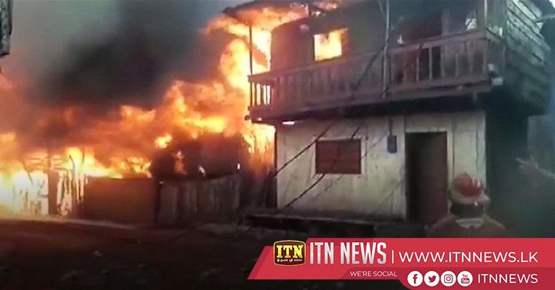 Massive fire engulfs homes in Peru jungle city
