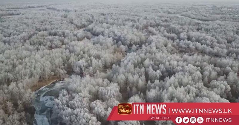 Rime scenery dazzles tourists in northwest China's Xinjiang region