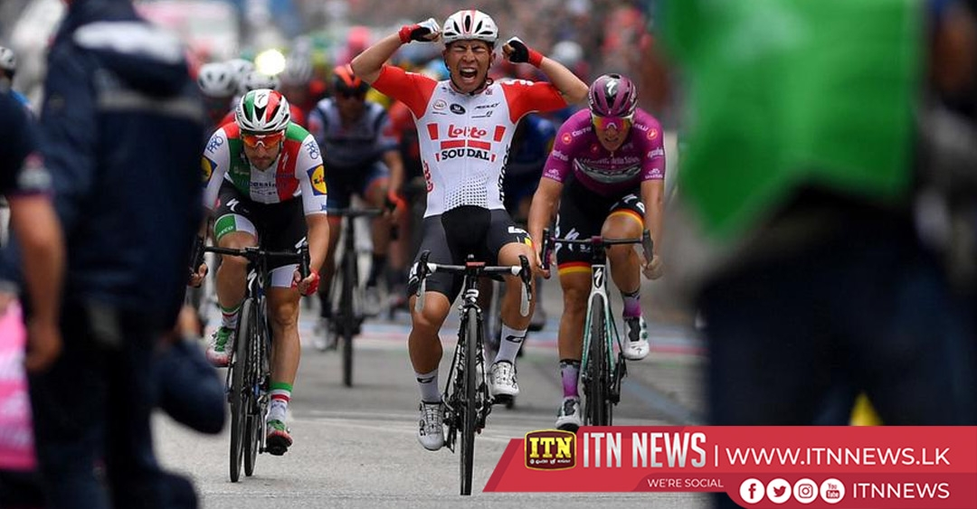 Frenchman Demare wins Giro stage 10, Conti stays in pink