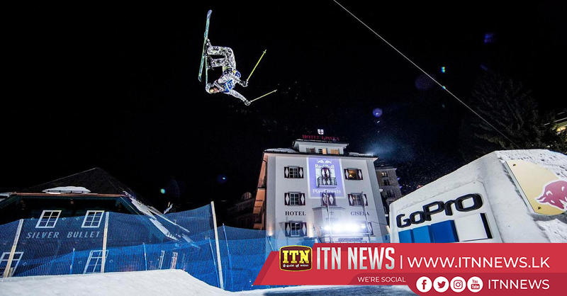 Skiers sail through streets of Bad Gastein in Red Bull Playstreets event