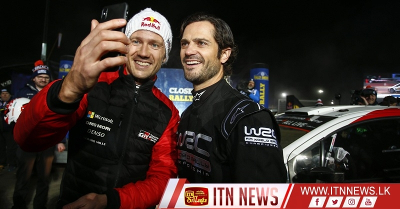 Sweden's Prince Carl Philip partners Ogier in shakedown