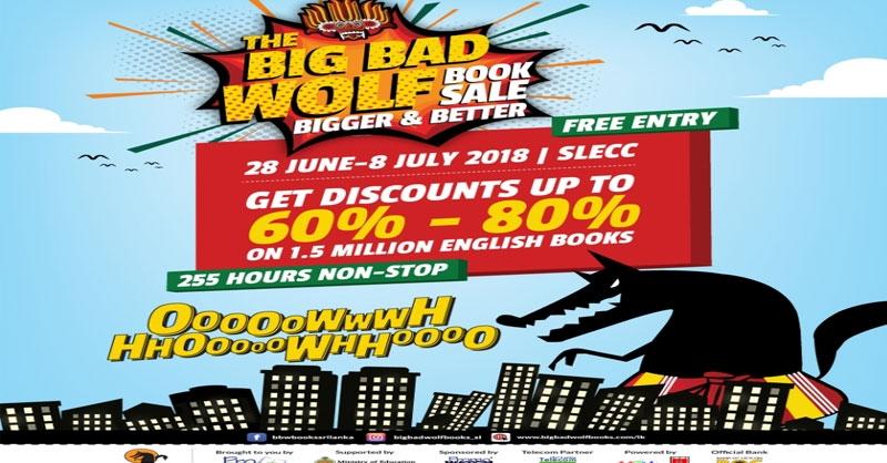 சர்வதேச புகழ்பெற்ற Big bad wolf sale புத்தகக் கண்காட்சி