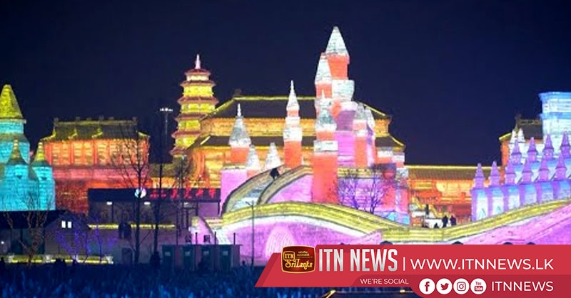Ice lanterns light up night in northeast China to welcome Chinese Lunar New Year