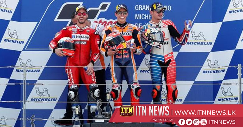Marquez wins on 200th start, sixth title beckons