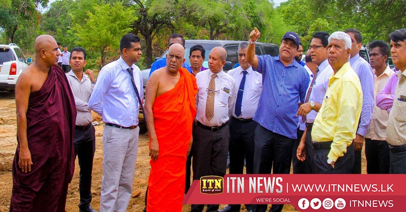 Constructions of the biggest reservoir in Anuradhapura