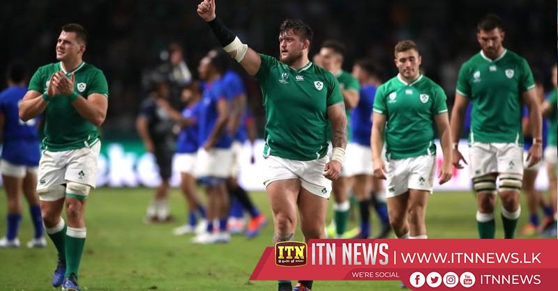Ireland cruise past Samoa into quarter-finals despite Aki red