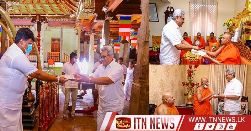 COVID 19 சுகாதார – சமூக பாதுகாப்பு நிதியத்திற்கு தலதா மாளிகை 2 கோடி ரூபா நிதியுதவி