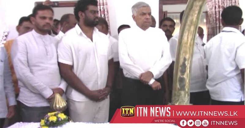 Prime Minister pays his last respects to late Deputy Minister H.R. Mithrapala