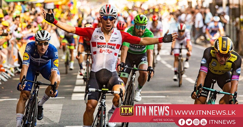 Caleb Ewan wins stage 11 as Alaphilippe retains yellow jersey