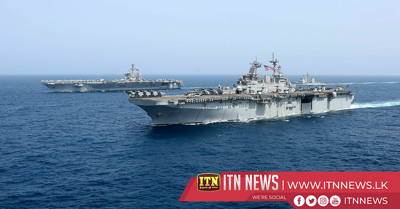 U.S. Navy warships conduct exercises in Arabian Sea