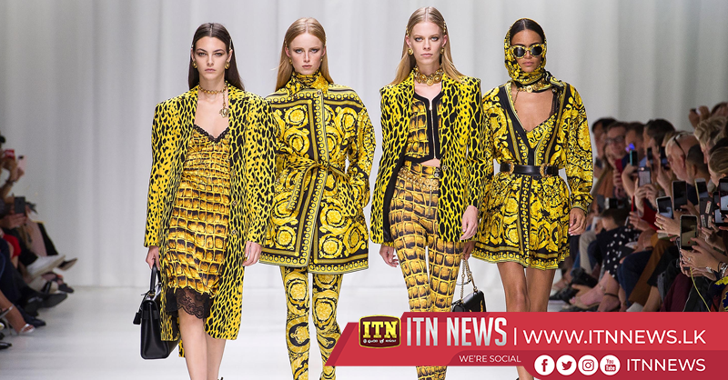 Versace plays with prints and leather for its spring/summer designs