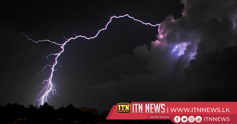 Met Department forecasts lightning and strong winds with showers