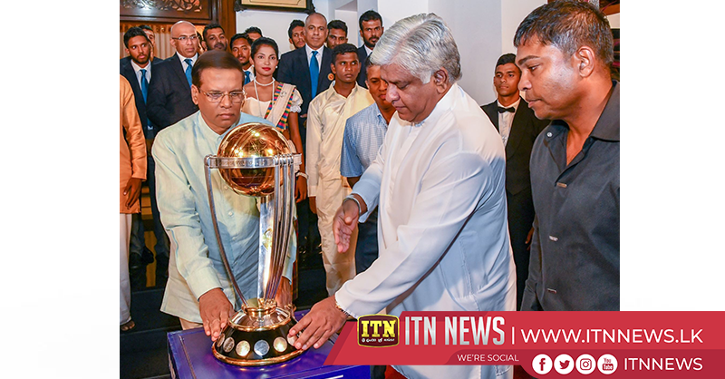 President presented with Cricket World Cup